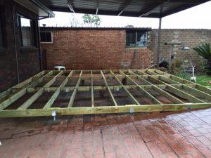 Decking - Stumps & Bearers Installation