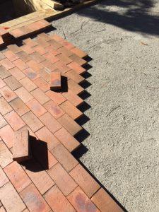floor brick laying