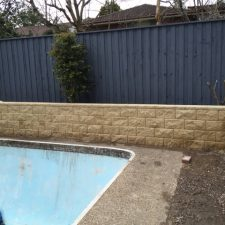 Swimming Pool Retaining Walls