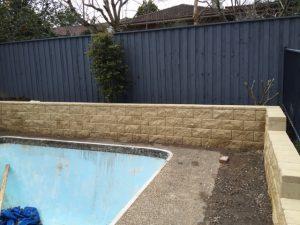 Swimming Pool Retaining Walls