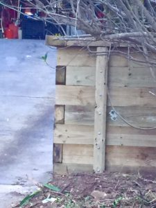 wooden rendering retaining wall