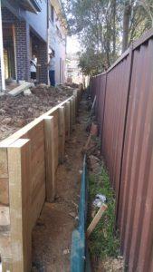 wooden retaining walls