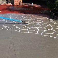 Stencil Concrete driveways